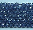 Fancy Cubic zirconia beads, Tanzanite Color